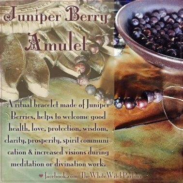juniper berry amulet